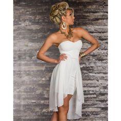 Női Sexy Evening mini ruha fehér