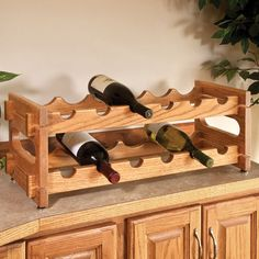 Stackable Wine Racks Woodworking Plan by Woodcraft Magazine