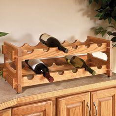 Stackable Wine Racks Woodworking Plan by Woodcraft Magazine