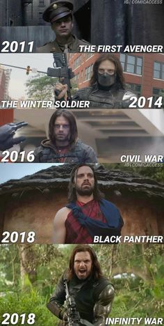 Bucky Barnes throughout the Marvel Cinematic Universe (MCU) Movies