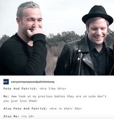 this is actually me lol I love fall out boy