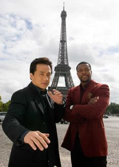 Jackie Chan at the Eiffel Tower