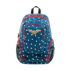 DC Comics Wonder Woman Commuter Backpack - Blue : Target (99 BRL) ❤ liked on Polyvore featuring bags, backpacks, blue backpack, backpack bags, blue bag, knapsack bag and blue rucksack