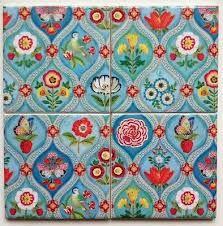 Image result for handmade floor tiles 2018 Color, Pip Studio, Ceramic Coasters, Handmade Tiles, Retro Flowers, Paper Design, Aqua Blue, Print Patterns, Ceramics