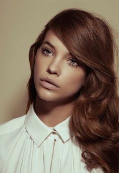 Big lashes & soft lips Reminds me of Lana del Rey? :D