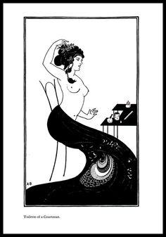 Aubrey Beardsley Vintage Print Toilette Of A by VintagePrintStore