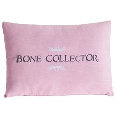 Bone Collector Pink Oblong Pillow Gray | FREE SHIPPING