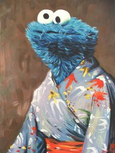 "hillarywhiterabbit: ""Kimono Monster: print available @ Society6 """