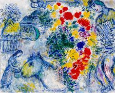 """Wild Poppies"" - Marc Chagall - 1968 - Oil on Canvas - Milwaukee Art Museum"