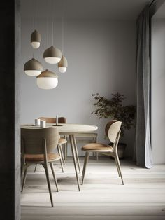 Hanging lamp TERHO LAMP- Hängeleuchte TERHO LAMP Danish design pendant lights in a round shape with a lime wood frame for modern living rooms - Design Living Room, Dining Room Design, Living Room Modern, Modern Dining Rooms, Dining Room Lamps, Room Chairs, Small Living, Table Lamps, Living Rooms