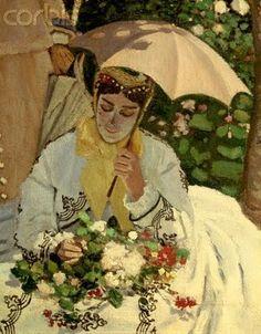 Claude Monet (1840-1926). Detail Woman in a Garden