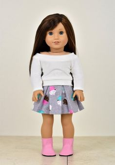 6 pair stretch ankle socks for 18-20 inch dolls