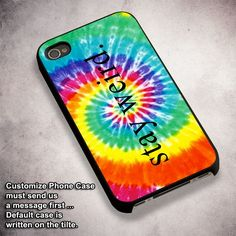 Tie Dye Stay Weird - For iPhone 4/ 4S/ 5/ 5S/ 5SE/ 5C/ 6/ 6S/ 6 PLUS/ 6S PLUS/ 7/ 7 PLUS Case And Samsung Galaxy Case