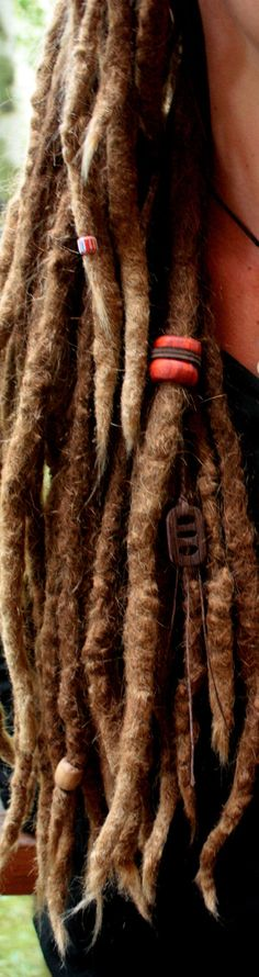 Tribal Bohemian Dread Bead by GhostRiverArt on Etsy, $45.00