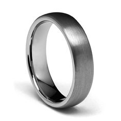 6mm Domed Cobalt Free Tungsten Carbide COMFORT-FIT Wedding Band Ring for Men and Women (Size 5 to 15) - Size 5