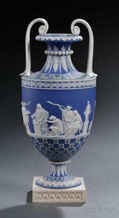 168: Wedgwood Three-color Jasper Dipped Diceware Vase, : Lot 168