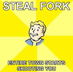 Fallout 3 Steal fork everyone in town starts shooting