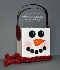 Stamping Inspiration: 25 DAYS OF CHRISTMAS, DAY #13: Frosty the Snowman Fancy Favor Box...