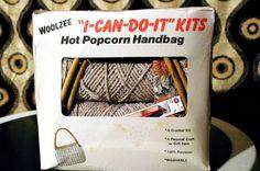 Wooleze ICanDoIt Hot popcorn Handbag by TheModPasse on Etsy, $22.00