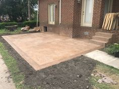 Concrete, Patios