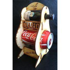 Caja Porta Fernet Y Coca Cola Souvenir Caja Vino Fibrofacil