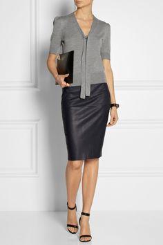 Michael Kors | Tie-neck fine-knit merino wool sweater | NET-A-PORTER.COM