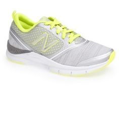 A versatile running shoe is built for all-day wear with a responsive CUSH+ midsole that provides lasting comfort and support. Forefoot flex grooves and a contoured fit enhance your range of motion to effortlessly take you from workout to hangout. Color (s) : grey/ yellow. Brand: New Balance. Style Name: New Balance 'WX711' Running Shoe (Women) . Style Number: 941371.