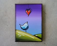 With Love Original Canvas Painting Series Cindy by ThorntonArt