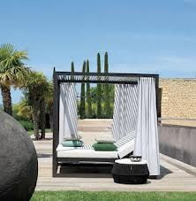 teak poster bed outdoor - Google Search