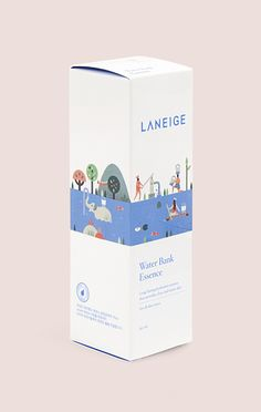 Packaging illustrations for Laneige, a South Korean cosmetics brand by Lotta Nieminen #packaging #illustration