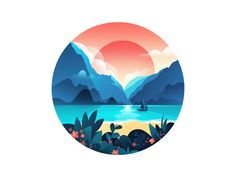 Scenery Illustrations by Will #Design Popular #Dribbble #shots