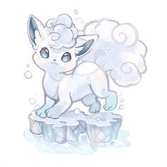 "alpaca-carlesi: ""Vulpix Alola for a Pokedex Project (⸝⸝⍢⸝⸝) ෆ "" 150 Pokemon, Pixel Pokemon, Baby Pokemon, Pokemon Tattoo, Pokemon Fan Art, Alolan Vulpix, Pokemon Eeveelutions, Cute Pokemon Wallpaper, Cute Cartoon Wallpapers"