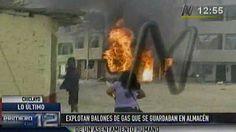 Chiclayo: explosión en almacén de balones de gas causó incendio