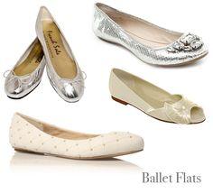 Fabulosos zapatos de la boda piso - los planos del ballet