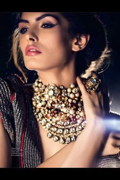 Gorgeous Kundan jewellery.