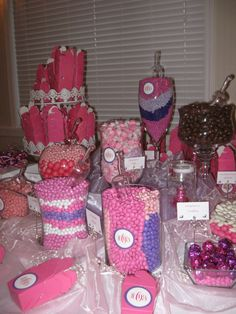 pictures of candy bars at wedding receptions | candy tables at weddings
