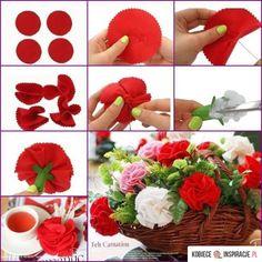 Kwiaty z materiału - dekoracje - Kobieceinspiracje.pl
