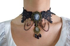 Gothic Accessories to help your all black attire to come to life! We have gorgeous Gothic choker necklaces for you!