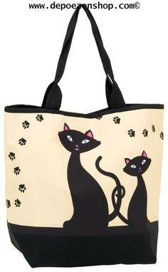 Resultado de imagen de bolsos con gatos pintados