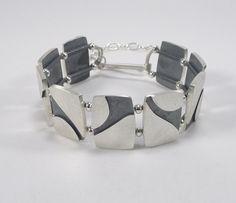 Sterling Silver Calla Lily Motif Bracelet B340 by bridgetclark