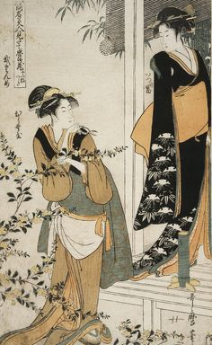 Act II: Itsutomi and Hiranoya - Kitagawa Utamaro