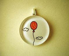Original hand painted glass pendant  Hope by monocerus on Etsy, $12.00