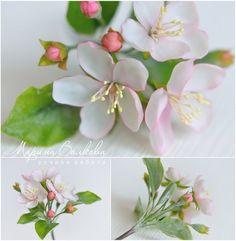 Fondant Flowers, Paper Flowers Diy, Sugar Flowers, Handmade Flowers, Silk Flowers, Gum Paste Flowers, Biscuit, Fondant Tutorial, Polymer Clay Flowers