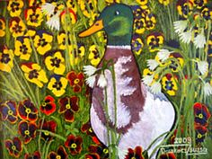 Kacsamadár - művészet - olajfestmény /  Duck - art - oil painting /   Ente - kunst - ölmalerei / 09-kacsa.jpg (480×360)