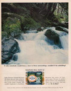 1966 Olympia Beer print ad Tumwater Washington brewery by Vividiom, $8.00