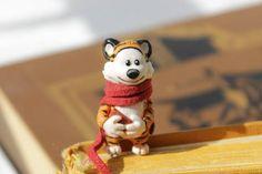 Calvin and Hobbes bookmark Custom made book marks Tiger animal