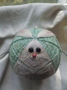 Bunny  3 inches diameter by DETemariCreations on Etsy, $40.00