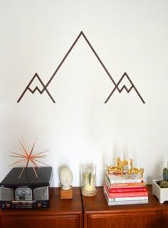 simple washi tape mountains
