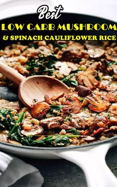 This low-carb and spinach rice is delicious and easy to make! Go with the chicken, fish or side salad! That Thanksgiving Day, I was surprised that I didn't eat too many carbs. I had a slice of sweet potato cake and a serving of Arroz con Gandule, but both were small portions and I didn't feel full. I continue to use cauliflower rice as a side dish for leftovers. Fried Chicken Recipes, Seafood Recipes, Easy Stuffed Peppers, Easy Christmas Cookie Recipes, Vegetarian Meal Prep, Instant Pot Dinner Recipes, Easy Baking Recipes, Crockpot Recipes, Curry Ramen