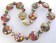 Millefiore beads - photographed by Gillian Horsup.